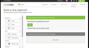 dotmailer segmentation tools