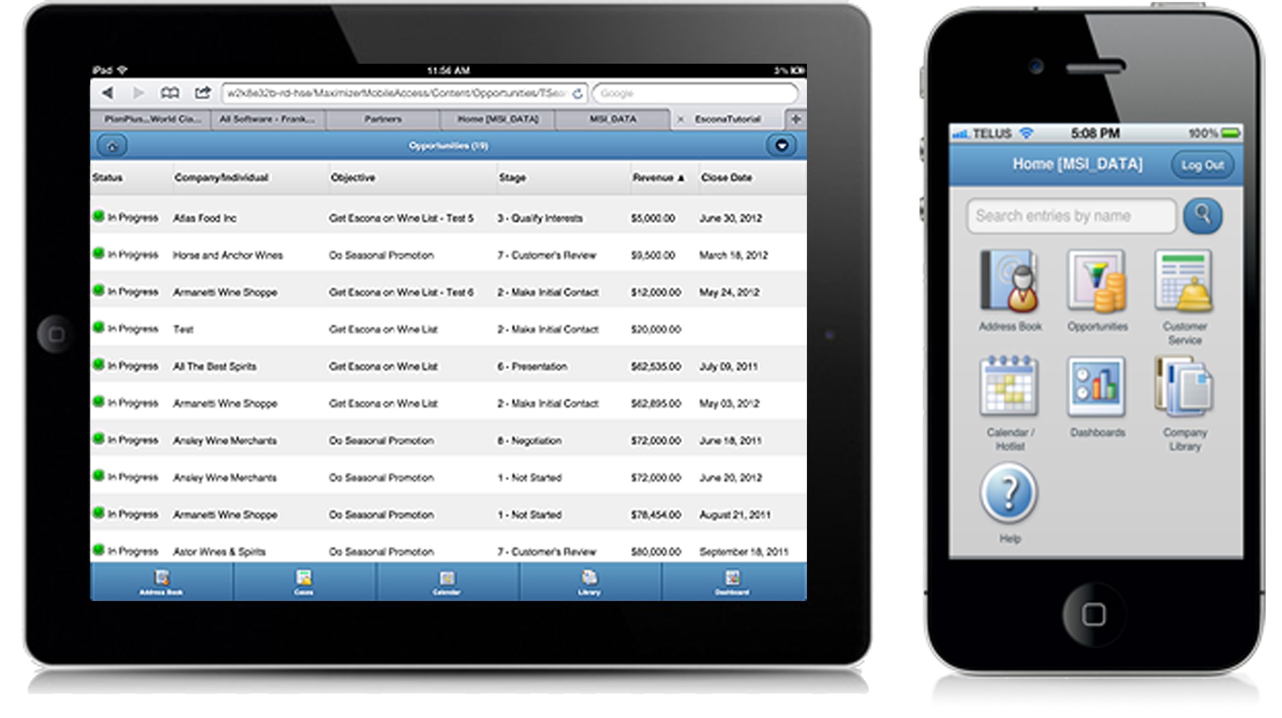 Maximizer mobile CRM access