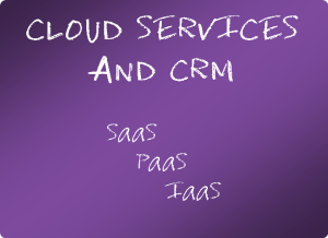 Cloud services and CRM
