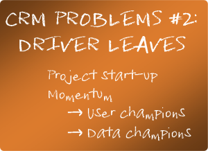 CRM problems 2 driver leaves