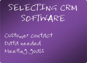 Selecting CRM Software