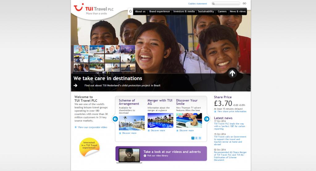 tui travel plc case study