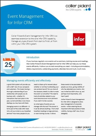 Event Management for Infor CRM