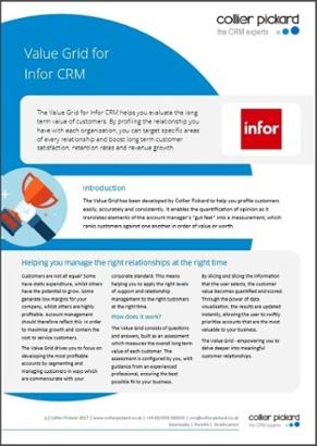 Value Grid for Infor CRM